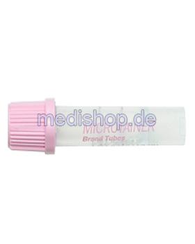 BD Microtainer EDTA-Röhrchen für die Blutbildanalyse 0,8 mg K2 EDTA, 200 Stück, Becton Dickinson, medishop.de