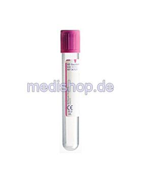 BD Vacutainer EDTA Plus Röhrchen aus PET 10 ml, 10,8 mg K2 EDTA, 100x16 ml, lila,, 100 Stück, Becton Dickinson, medishop.de