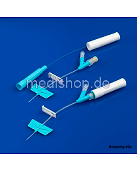 BD Saf-T-Intima Venenverweilkatheter mit Y-Anschluss, 22 G, 0,9 x 19 mm, blau, 25 Stück, Becton Dickinson, medishop.de