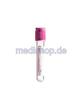 BD Vacutainer EDTA Plus Röhrchen aus PET, 4 ml, 7,2 mg K2 EDTA,, 100 Stück, Becton Dickinson, medishop.de