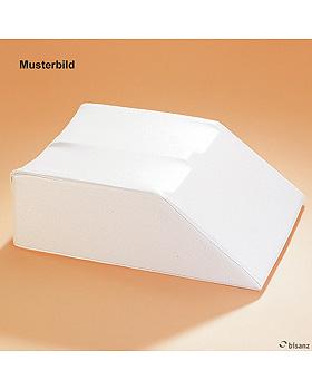 Beinhochlagerungskeil doppelt weiß, phthalatfrei, 60 x 44 x 18 cm, Sonderanfertigung!, Bisanz, medishop.de