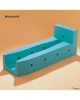 Beinlagerungsschiene 2 mit KL-Bezug weiß, Beinlänge 55 cm, für Kinder, Sonderanfertigung!, Bisanz, medishop.de