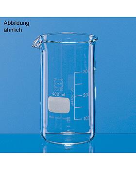Becher, hohe Form, Boro 3.3, 3000 ml, mit Teilung und Ausguss, 2 Stück, Brand/Merz & Co., medishop.de