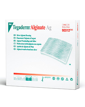 3M Tegaderm Alginate AG Wundauflage mit Silber 10 x 10 cm (10 Stck.), 3M Medica, medishop.de