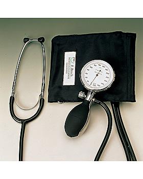 Regent II Blutdruckmessgerät Ø 68 mm mit schwarzer Ziehklettenmanschette, Friedrich Bosch, medishop.de