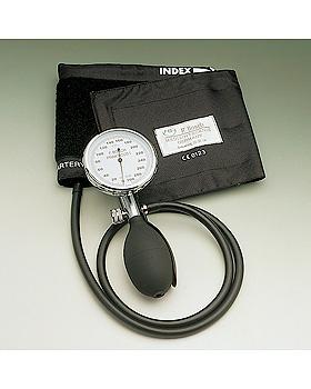 Prakticus I Blutdruckmessgerät Ø 68 mm 1-Schlauch, schwarz, kpl. im Etui, Friedrich Bosch, medishop.de