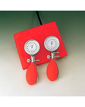 Konstante II rot Blutdruckmessgerät mit Stethoskop,Kunststoff verchromt,, Friedrich Bosch, medishop.de