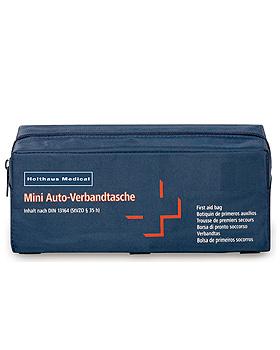 MINI KFZ-Verbandtasche, blau, gefüllt nach DIN 13164, Holthaus Medical, medishop.de