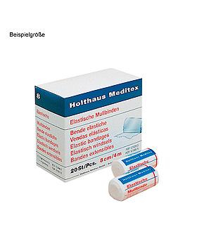 YPSIFLEX elastische Mullbinden 4 m x 8 cm, 20-fädig (20 Stck.), 20 Packungen, Holthaus Medical, medishop.de