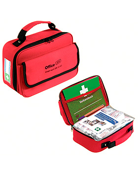 Office plus Verbandtasche rot, gefüllt nach DIN 13157, Holthaus Medical, medishop.de