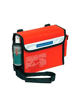 Sanitätsumhängetasche, rot, gefüllt nach DIN 13160, Holthaus Medical, medishop.de
