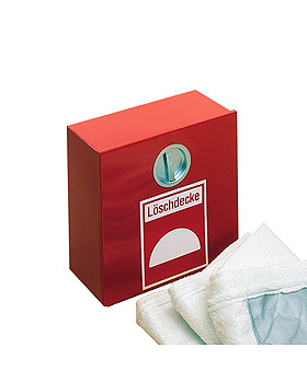 Löschdeckenbehälter aus Stahlblech 30 x 20 x 24 cm, rot RAL 3000, Holthaus Medical, medishop.de