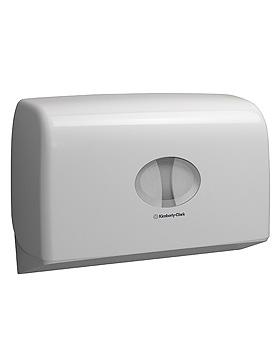 AQUARIUS Mini Doppelrollenspender für mini Jumbo Toilet Tissue, weiß, Kimberly-Clark, medishop.de