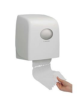 AQUARIUS Slimroll Rollenhandtuchspender, Kunststoff, weiß, 34,3 x 31,8 x 19 cm, Kimberly-Clark, medishop.de