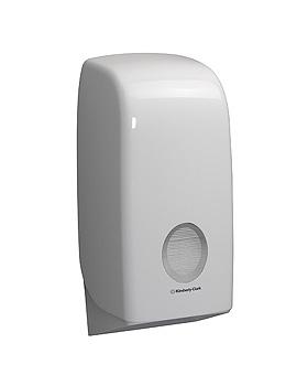 AQUARIUS Toilet Tissue Einzelblatt- spender, weiß, 33,8 x 16,9 x 12,3 cm, Kimberly-Clark, medishop.de
