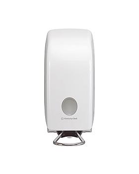 AQUARIUS Spender für Handreiniger 1 Ltr. mit Armhebel, weiß 23,7 x 11,5 x 25 cm, Kimberly-Clark, medishop.de