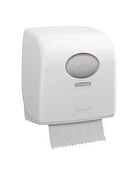 AQUARIUS Slimroll Rollenhandtuchspender Kunststoff, weiß 32,4 x 29,7 x 19,2 cm, Kimberly-Clark, medishop.de