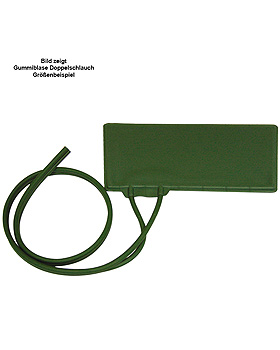 Gummiblase grün, Doppelschlauch 80 cm, 20 x 8 cm, Kinder, Erka, medishop.de