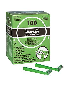 Einmal-Rasierer Wilkinson Typ 188H, unsteril, zweischneidig (100 Stck.), ratiomed, medishop.de