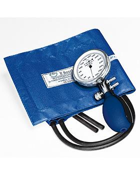 Prakticus II Blutdruckmessgerät Ø 68 mm 2-Schlauch, blau, kpl. im Etui, Friedrich Bosch, medishop.de