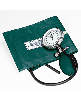 Prakticus I Blutdruckmessgerät Ø 68 mm 1-Schlauch, grün, kpl. im Etui, Friedrich Bosch, medishop.de