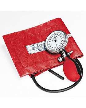 Prakticus I Blutdruckmessgerät Ø 68 mm 1-Schlauch, rot, kpl. im Etui, Friedrich Bosch, medishop.de