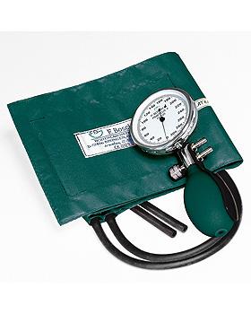 Prakticus II Blutdruckmessgerät Ø 68 mm 2-Schlauch, grün,kpl. m. Hakenmanschette, Friedrich Bosch, medishop.de