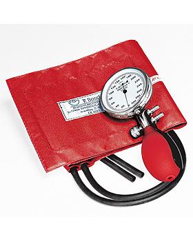 Prakticus II Blutdruckmessgerät Ø 68 mm 2-Schlauch, rot, kpl. im Etui, Friedrich Bosch, medishop.de