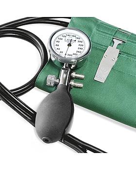 Konstante II Blutdruckmessgerät im Etui mit grüner Hakenmanschette,, Friedrich Bosch, medishop.de
