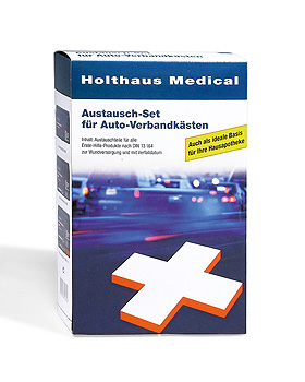 Austauschset KFZ nach DIN 13164, 27 Teile, Holthaus Medical, medishop.de