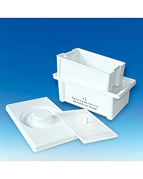 Desinfektionswanne 1 Ltr. mit Druckplatte und Abtropfvorrichtung, ratiomed, medishop.de