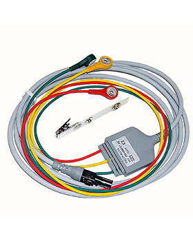 3-adriges, einteiliges Kabel (IEC) 3 m, mit Druckknopfanschlüssen, WelchAllyn, medishop.de