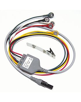 5-adriges EKG Kabel 60 cm mit 2 adriger Ableitung für Micropaq (IEC), WelchAllyn, medishop.de