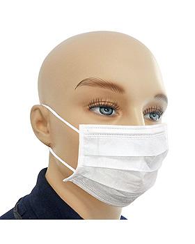 Einmal-Mundschutz weiß, mit runden, latexfreien Ohrschlaufen (50 Stck.), ratiomed, medishop.de