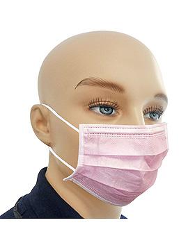 Einmal-Mundschutz pink, mit runden, latexfreien Ohrschlaufen (50 Stck.), ratiomed, medishop.de