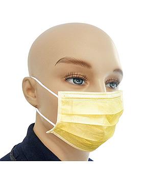 Einmal-Mundschutz gelb, mit runden, latexfreien Ohrschlaufen (50 Stck.), ratiomed, medishop.de