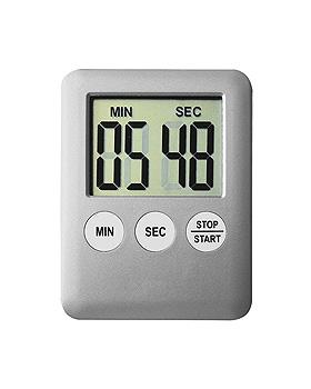 Digital Timer mit kleinem Display silber, ratiomed, medishop.de