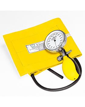 Prakticus I Blutdruckmessgerät Ø 68 mm 1-Schlauch, gelb, kpl. im Etui, Friedrich Bosch, medishop.de