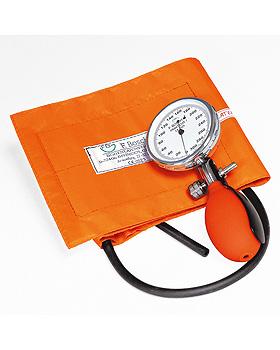 Prakticus I Blutdruckmessgerät Ø 68 mm 1-Schlauch, orange, kpl. im Etui, Friedrich Bosch, medishop.de