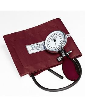 Prakticus I Blutdruckmessgerät Ø 68 mm 1-Schlauch, burgund, kpl. im Etui, Friedrich Bosch, medishop.de