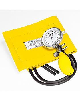 Prakticus II Blutdruckmessgerät Ø 68 mm 2-Schlauch, gelb, kpl. im Etui, Friedrich Bosch, medishop.de