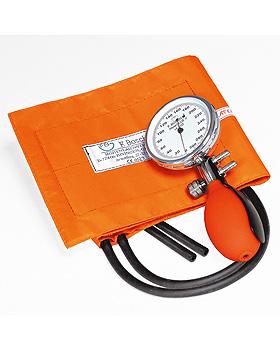 Prakticus II Blutdruckmessgerät Ø 68 mm 2-Schlauch, orange, kpl. im Etui, Friedrich Bosch, medishop.de