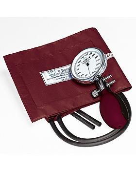 Prakticus II Blutdruckmessgerät Ø 68 mm 2-Schlauch, burgund, kpl. im Etui, Friedrich Bosch, medishop.de