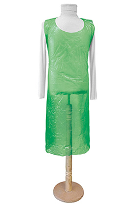 Einmal-Schürzen grün 80 x 125 cm x 0,020 mm (100 Stck.), ratiomed, medishop.de