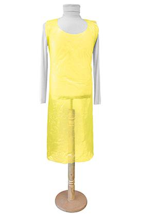 Einmal-Schürzen gelb 80 x 125 cm x 0,020 mm (100 Stck.), ratiomed, medishop.de