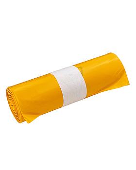 Abfallsäcke 120 Ltr. gelb, 700 x 1100 x 0,082 mm (5 Rl. à 25 Btl.), ratiomed, medishop.de