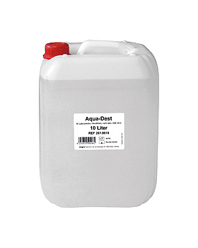 Aqua-Dest 10 Ltr. Laborwasser, ratiomed, medishop.de