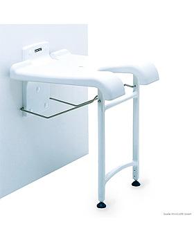 Aquatec Duschklappsitz Sansibar, weiß, mit Hygieneausschnitt, ratiomed, medishop.de