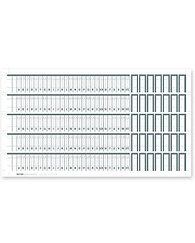 Alphabetleistenaufkleber MEGAnorm DIN A4 aus unzerreißbarer PP-Folie (100 Stck.), Med + Org, medishop.de