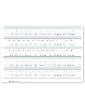 Alphabetleistenaufkleber für Karteitaschen DIN A5 (100 Stck.), Med + Org, medishop.de